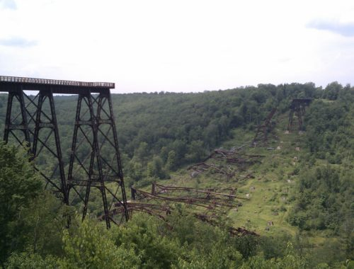 The remains of the Kinzua bridge